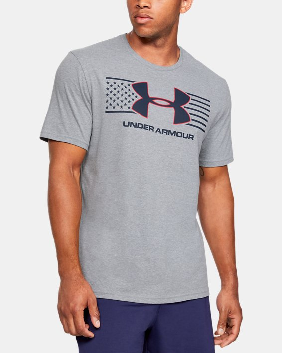 Men's UA Americana Big Logo T-Shirt, Gray, pdpMainDesktop image number 0